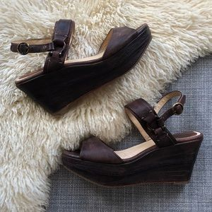 Frye Carlie Sling Wedge Platform Sandal